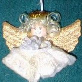 Tampon angel DIY OMG! Wha-What!!     1. Dip into water until tampon expands.      2. Remove and tie at the top to create the angel's head.      3. Let hang (by handy dandy string) for several days until dry.      4. Paint face with peach or skin tone color, and draw small black dots for eyes.      5. Add blush or pink paint