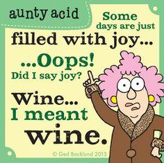 Aunty Acid on wine...