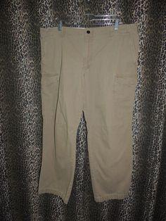 "Levi's Dockers D2 Straight Fit Canvas Khakis Beige Cargo Pants Size 40""x30""  #DOCKERS #CargoKhakis"