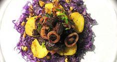 Σε άλικη διάθεση: Σαλάτα με παντζάριακαιπατάτες - Pandespani.com Acai Bowl, Menu, Breakfast, Food, Acai Berry Bowl, Menu Board Design, Morning Coffee, Essen, Meals
