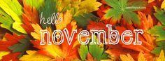 Hello November Facebook Cover Facebook Cover CoverLayout.com