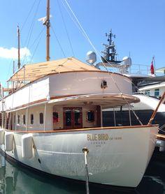 Beautiful boat in the harbor of Saint-Tropez, France. More photos from the Côte d'Azur: http://juliangrandke.de/on-the-road/saint-tropez/