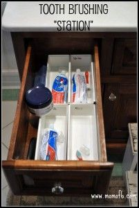 Tooth Brush Station Use A Drawer Instead Of Toothbrush Holder On The Counter