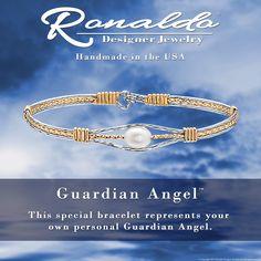 The Guardian Angel Bracelet Wear the Guardian Angel Bracelet from Ronaldo Designer Jewelry as a reminder of your own guardian angel. Wire Bracelets, Bangles, Ronaldo Bracelet, Designer Jewelry, Jewelry Design, Wire Wrapped Jewelry, The Guardian, Jewelery, Handmade Jewelry