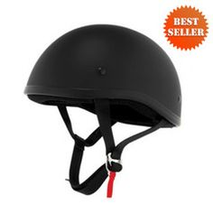 Skid Lid Naked Shorty Flat Black Helmet