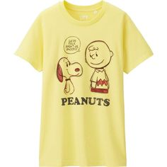 UNIQLO Women Peanuts Short Sleeve Graphic T-Shirt ($15) ❤ liked on Polyvore featuring tops, t-shirts, graphic print t shirts, graphic tops, uniqlo t-shirts, short sleeve tee and fox t shirts