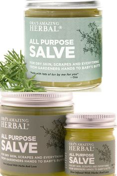 All purpose salve. No gluten, synthetics, paraben, grains, not tested on animals. #salve #herbal #ad