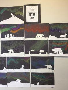 From the album Anoki& Journey by Antoine Guilloppé, we suggest you . Christmas Art, Winter Art Lesson, Northern Lights Art, Art Store, Elementary Art Projects, Art, Winter Art, Northern Lights Art Lesson