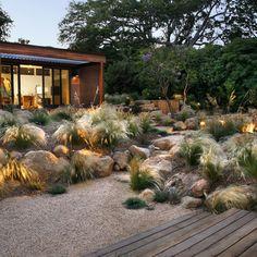 Xeriscape Landscaping Grace Design Associates Santa Barbara, CA Design Patio, Rock Garden Design, Meadow Garden, Dream Garden, Landscaping With Rocks, Backyard Landscaping, Landscaping Ideas, Modern Landscaping, Landscape Arquitecture