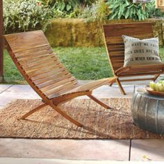 <p>This elegant and eco-friendly outdoor furniture collection is crafted using beautiful and durable, fine-grained teak. Teak wood is an incredibly durable and super moisture- and rot-resistant wood that is perfect for outdoor use. We source ours from monitored plantations; here it is grown and harvested at a sustainable rate so it doesn't deplete the natural tree population. This upscale, yet laid-back and completely flexible, collection offers three different pieces to furnish your deck, porch Spray Paint Furniture, Resin Patio Furniture, Patio Furniture Cushions, Teak Outdoor Furniture, Outdoor Chairs, Outdoor Decor, Modern Furniture, Outdoor Areas, Teak Wood