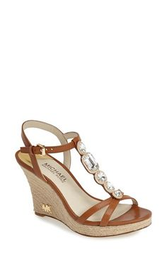MICHAEL Michael Kors 'Sylvia' Wedge Sandal (Women) available at #Nordstrom