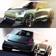 #Mini Electric concept sketches. Looking forward to seeing it at its Frankfurt debut! #conceptcar #cardesign #electric #automotivedesign #vehicledesign #transportationdesign #mobility #frankfurt #iaa #iaa2017 #sketch #rendering #render #car #design