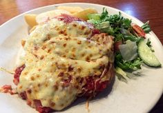 Chicken parma from the Railway Club Hotel, Port Melbourne