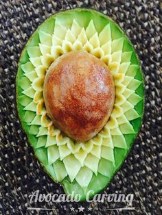 Avocado Carving I have tried my best but can only do. like this!!!