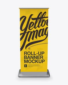 Roll-up Banner Mockup – Front View Preview