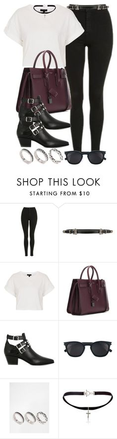 """""""Style #11115"""" by vany-alvarado ❤ liked on Polyvore featuring Topshop, Yves Saint Laurent and ASOS"""