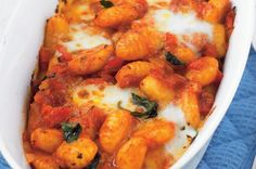 Gnocchi, Chana Masala, Mozzarella, Food And Drink, Lunch, Dinner, Ethnic Recipes, Dining, Eat Lunch