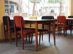 Chaise Amol & table Tema by Kann  Le Formika, bar lounge, Metz www.kanndesign.com