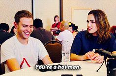 "Iain & Elizabeth. Iain is like ""Stop embarrassing me."""