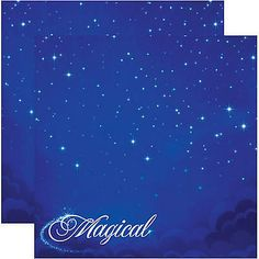 Reminisce MAGICAL 12x12 Dbl-Sided (2)PCS Scrapbooking Paper MAGIC VACATION