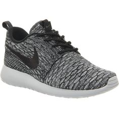 buy online 9ccf3 cbc12 NIKE Roshe Flyknit trainers found on Polyvore Black Nike Sneakers, Gray Nike  Shoes, Nike