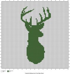 The Faux Menno: Deer Mount crochet graph Free pattern. There is also a link to create your own graph free.