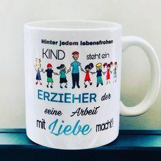 Qualitäts-Tasse Erzieherin / Erzieher   #housewares #becher #lehrer #lehrerin #padagogen #kaffetasse #tasse #abschied #krabbelstube Etsy, Mugs, Tableware, Cute Mugs, Wrapping Gifts, Teachers, Handmade, Kids, Dinnerware