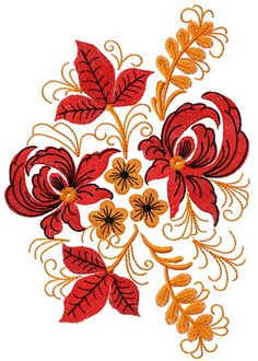 Flower composition 3 machine embroidery design