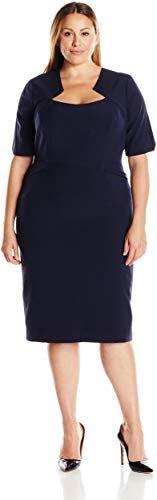 Single Dress Womens Plus-Size Carmina Dress