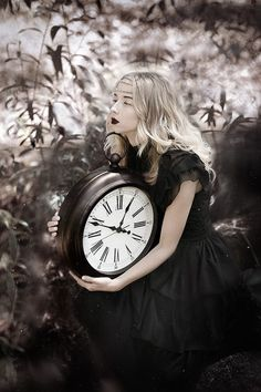 """Time"" photo by Beata Polańska Wiccan, Magick, Witchcraft, Clock Art, Clocks, Dark Beauty Magazine, Clockwork Angel, Goth Beauty, Time Photo"