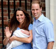 Prince William, Kate Middleton, & little baby Prince George