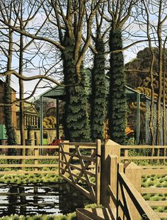 The Spring Equinox - Simon Palmer - Portland Gallery Landscape Drawings, Landscape Paintings, Cottage Art, Dry Stone, Stone Houses, Modern Landscaping, Contemporary Landscape, Art Techniques, Painting Inspiration