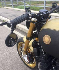 "Yamaha XJR 1300 Brat Style ""KARMA"" by Tondo Garage #motorcycles #bratstyle #motos | caferacerpasion.com"