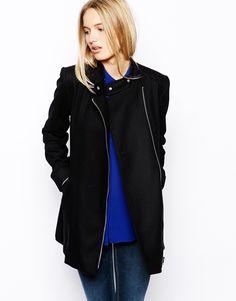 Oasis+Fashion+Biker+Coat