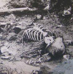 WW1 DEAD GERMAN SOLDIER w Helmet REAL PHOTO War Death TRENCH Body RPPC DIXMUDE