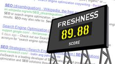Google's Freshness Score - How Fresh is your Content?