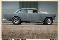 'Two Lane Blacktop' Chevy as also seen driven by a young Harrison Ford in 'American Graffiti'. Rat Rods, Firebird, Bel Air, Vw Minibus, American Graffiti, 1955 Chevy, Car Magazine, Us Cars, Drag Cars