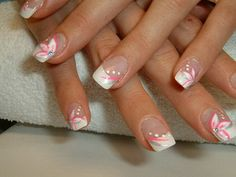 Nails for the summer - Nageldesign - Nagellack Nail Art Designs, French Nail Designs, Gel Designs, French Nails, French Acrylic Nails, Gelish Nails, Diy Nails, Cruise Nails, Manicure Y Pedicure