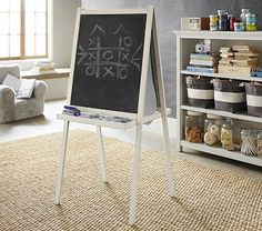 Love the big chalkboard wall for a kids room.