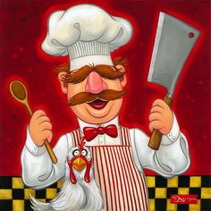 """Disney Fine Art The Muppets """"Swedish Chef"""" by Tim Rogerson Limited Edition Giclee on Canvas Sesame Street Characters, Cartoon Characters, Swedish Chef, Disney Fine Art, Fraggle Rock, The Muppet Show, Muppet Babies, Disney Wiki, Wood Burning Art"""