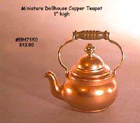 Laura DuBois Miniatures And Collectibles: Copper Teapots Accessoires Mini, Mini Kitchen, How To Make Tea, Teapots, Kitchen Accessories, Tea Cups, Kitchens, Copper, Miniatures