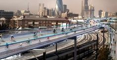 London elevated bike lane project
