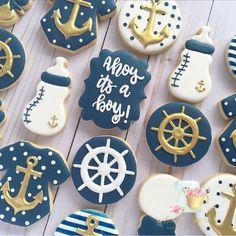 21 Ideas for baby boy shower nautical cake pop Baby Shower Desserts, Baby Shower Brunch, Boy Baby Shower Themes, Baby Boy Shower, Nautical Cake Pops, Nautical Baby, Nautical Theme, Nautical Food, Baby Cookies