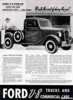 1936 Ford V-8 Half Ton Truck Ad - Car Pictures