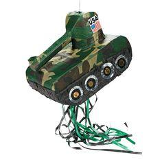 Tank Pull-String Piñata