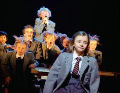 Kerry Ingram in Revolting children, Matilda the musical Stratford