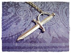 Tiny Swashbuckler's Sword Charm Necklace in by EvelynMaeCreations, $12.00