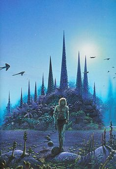 Cover painting by Tim White for the book 'Stranger in a Strange Land' by Robert A. Heinlein