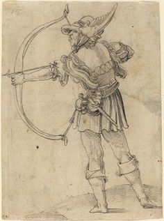 Archer Drawing His Bow - 1510, German