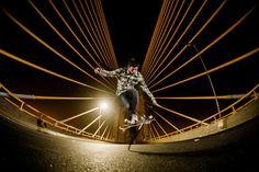 Rene Shigueto na Ponte Estaiada em São Paulo